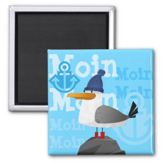 """Moin Moin"" Seagull Magnet"