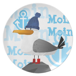 """""""Moin Moin"""" Seagull Plate"""