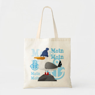 """Moin Moin"" Seagull Tote Bag"