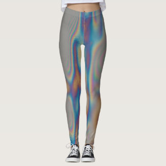 Moire Colorful rainbow reflection Leggings