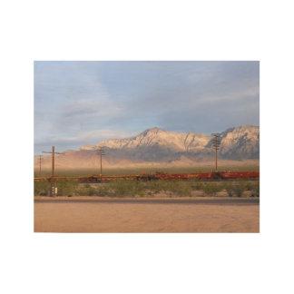 Mojave National Preserve California Wood Poster