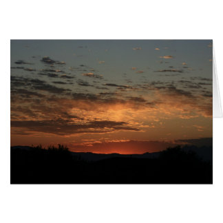 Mojave sunset greeting card