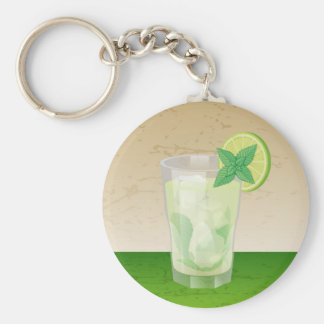 Mojito Basic Round Button Key Ring