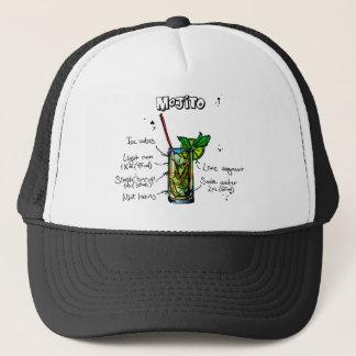Mojito Cocktail Recipe Trucker Hat