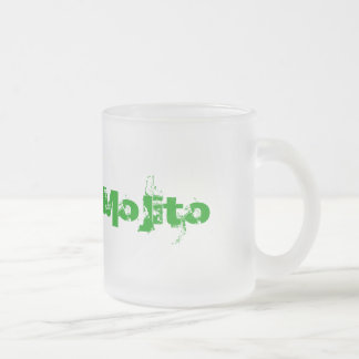 Mojito frosted glass mug for fresh drinks