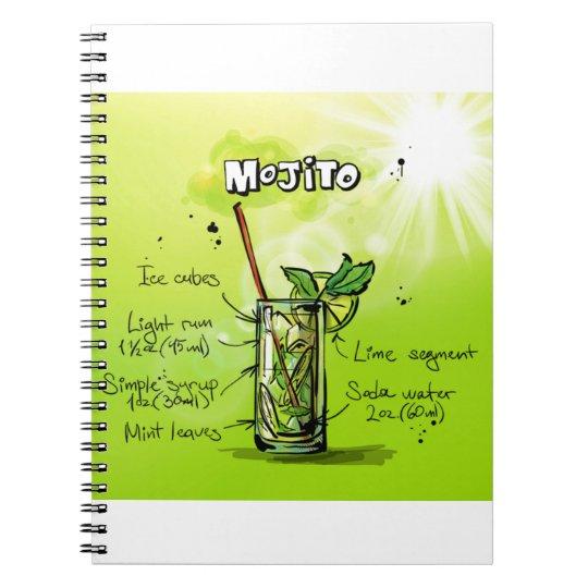 Mojito Recipe - Cocktail Gift Notebooks