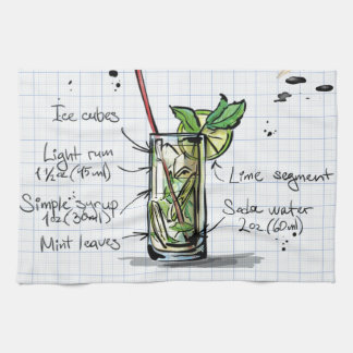 Mojito Recipe - Cocktail Gift Tea Towel