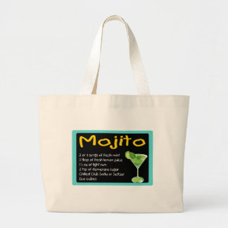 Mojito Recipe Jumbo Tote Bag