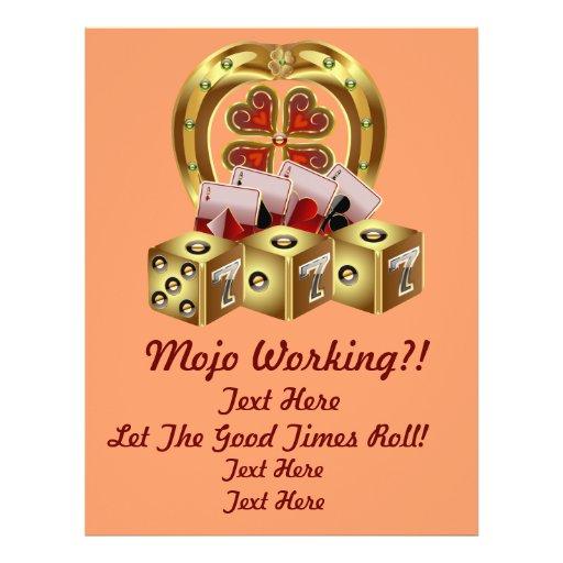Mojo Fast Luck  Mojo Workin! Personalized Flyer