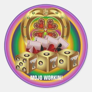 Mojo Fast Luck  Mojo Workin! Round Sticker