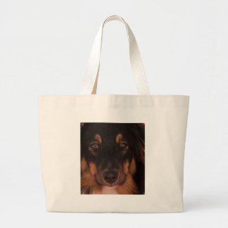 Mojo the Aussie Large Tote Bag