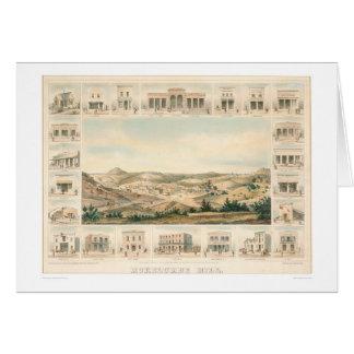 Mokelumne Hill Panoramic Map 1855 (1107A) Greeting Card