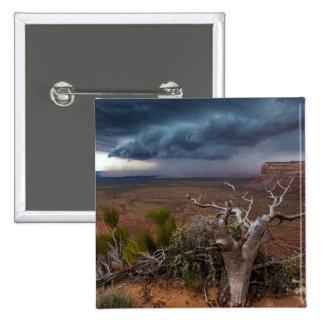 Moki Dugway Thunderstorm - Southern Utah 15 Cm Square Badge