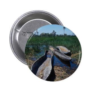 Mokoro's Okavango Delta, Botswana 6 Cm Round Badge
