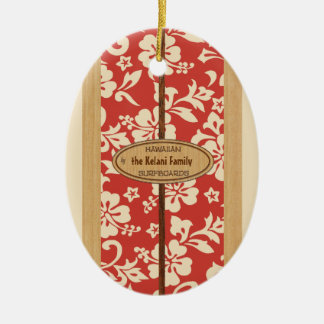 Mokuleia Customizable Vintage Surfboard Ornament