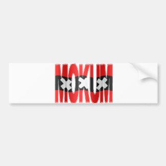 Mokum + Amsterdam flag Bumper Sticker