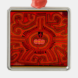 Mola Design by San Blas Indians Christmas Ornament