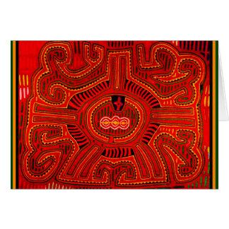 Mola Design by San Blas Indians Greeting Card