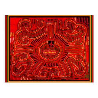 Mola Design by San Blas Indians Postcard