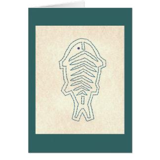 MOLA FISH GREETING CARD