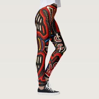 Mola leggings are boho, arty and colorful