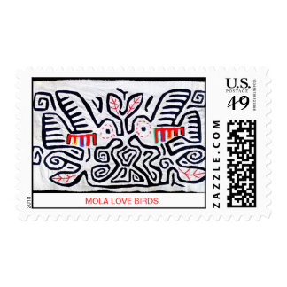Mola Love Birds Stamps