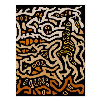 Mola Spirit Souls Dance Postcard