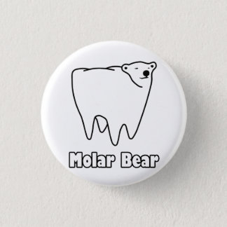 Molar Bear Polar Tooth Bear 3 Cm Round Badge