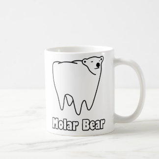 Molar Bear Polar Tooth Bear Basic White Mug