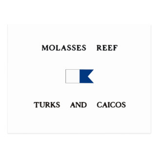 Molasses Reef Turks and Caicos Alpha Dive Flag Post Card
