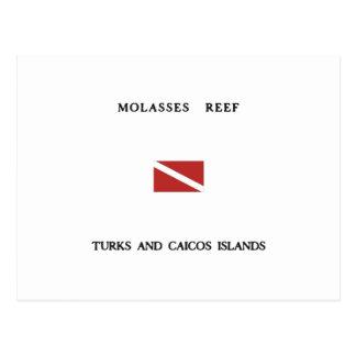 Molasses Reef Turks and Caicos Islands Scuba Dive Post Card