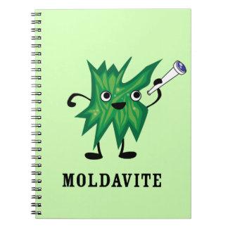 Moldavite Spiral Notebook