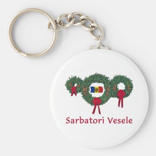 Moldova Christmas 2 Keychain