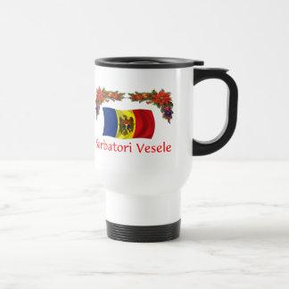 Moldova Christmas Travel Mug
