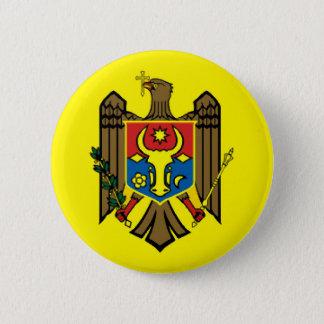 Moldova country flag nation symbol republic 6 cm round badge