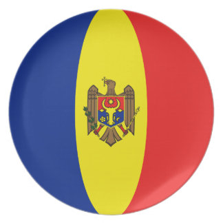 Moldova Fisheye Flag Plate