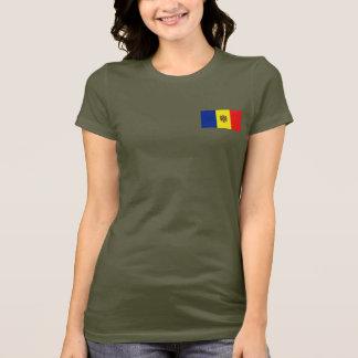 Moldova Flag and Map dk T-Shirt