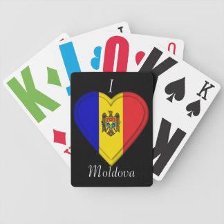 Moldova flag bicycle playing cards