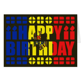 Moldova Flag Birthday Card