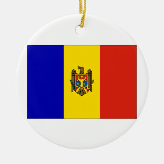 Moldova Flag Christmas Ornament