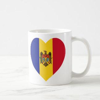Moldova Flag Heart Coffee Mug