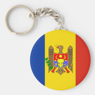 Moldova Flag Key Ring