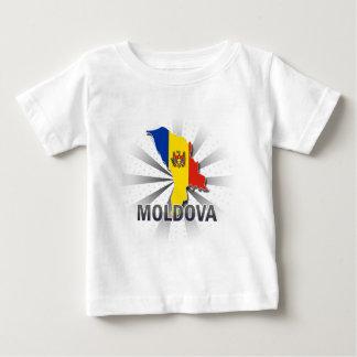 Moldova Flag Map 2.0 Baby T-Shirt