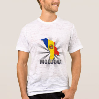 Moldova Flag Map 2.0 T-Shirt