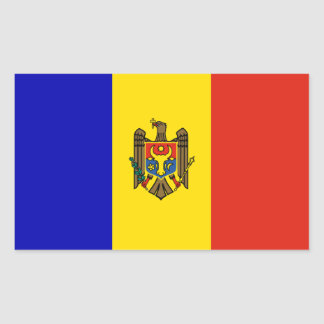 Moldova flag rectangular sticker