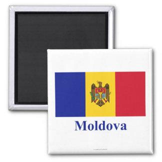 Moldova Flag with Name Magnet