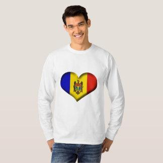 Moldova Heart Flag T-Shirt