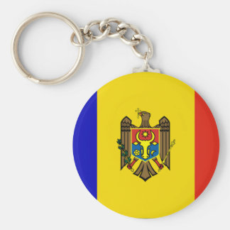 moldova basic round button key ring