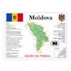 Moldova map Postcard