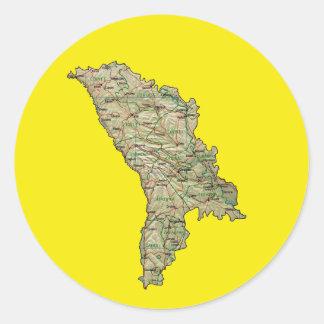 Moldova Map Sticker